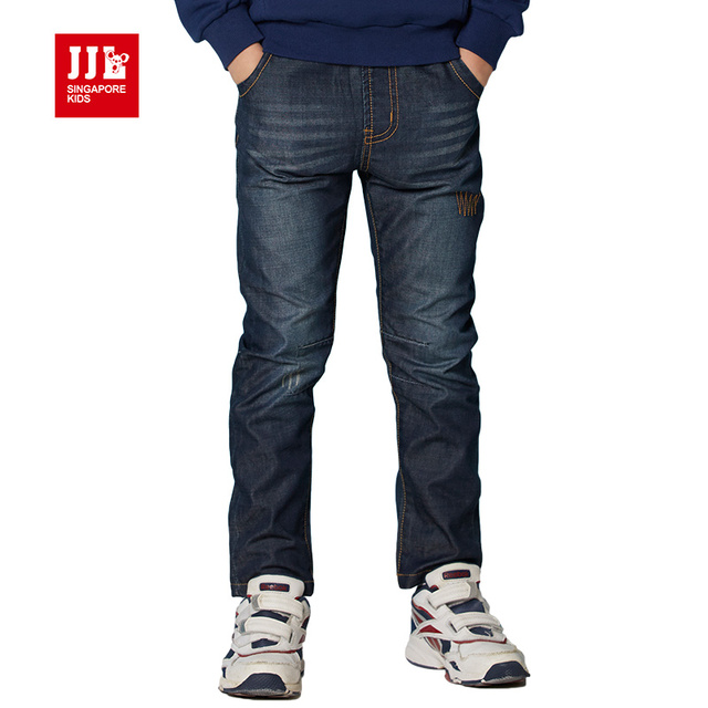 boys jeans children pants 2016 designer spring & autumn kids jeans children elastic waist trouser children clothing size 6-15y