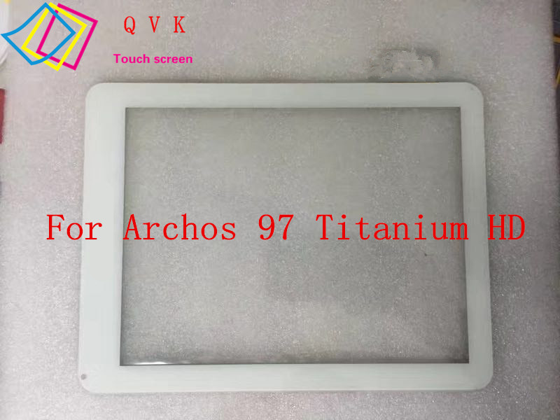 White 9.7 Inch For Archos 97 Titanium HD Tablet PC Touch screen panel Digitizer Glass Sensor replacement new 10 1 inch digitizer touch screen panel glass for archos 101d platinium tablet pc