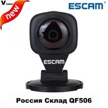 ESCAM diamant QF506 blanc 1MP wifi mini ip caméra deux façon audio motion détecteur P2P onvif caméra d'alarme soutien TF carte 64 GB