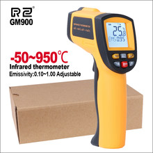 Rz Infrarood Thermometer Contactloze Temperatuur Meter Gun Handheld Digital Lcd Industriële Outdoor Laser Pyrometer Ir Thermometer(China)
