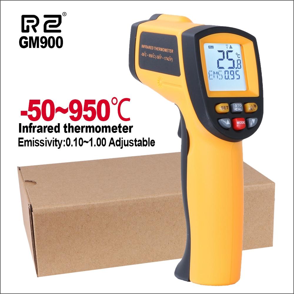 Rz ir infravermelho termômetro térmico imager handheld digital eletrônico ao ar livre não-contato laser pirometer ponto arma termômetro
