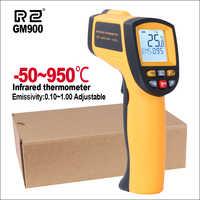 Termómetro infrarrojo RZ IR cámara de imágenes térmicas de mano Digital electrónica al aire libre sin contacto láser pirometro punto pistola termómetro