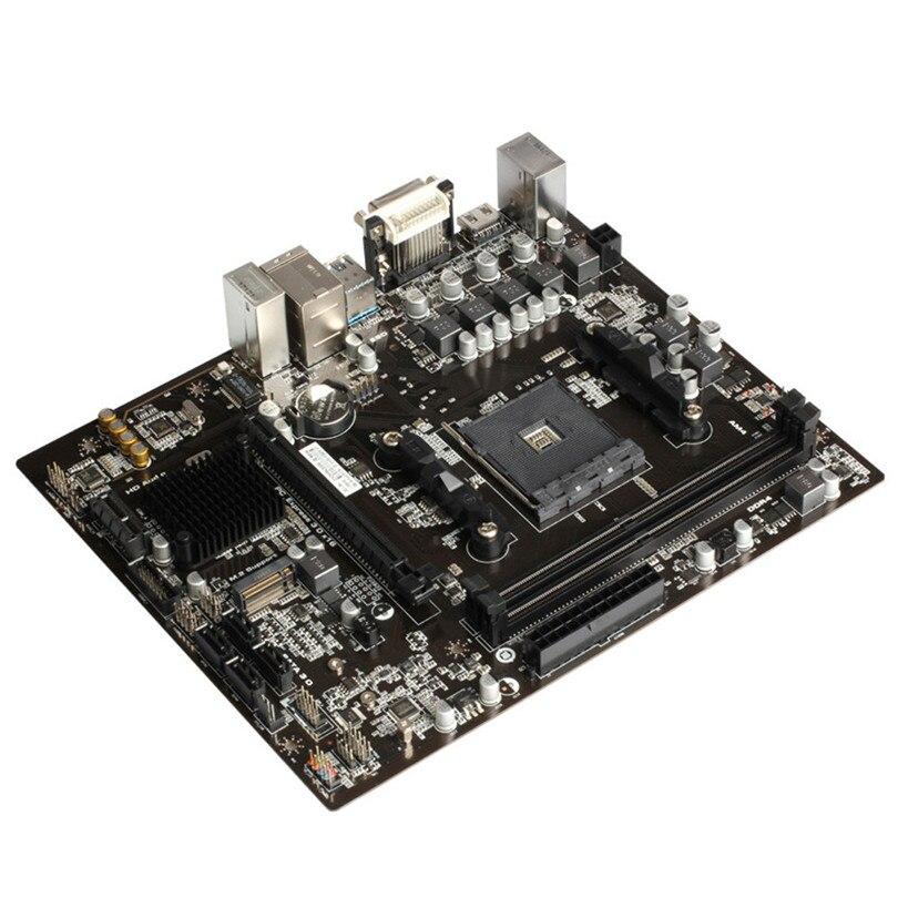 Basé sur AMD B350 chipset B350M-G2HD-J2 carte mère Pour Ordinateur De Bureau de direction VGA/HDMI/USB2.0/PCI-E X16/ SATA/USB 3.0 A20