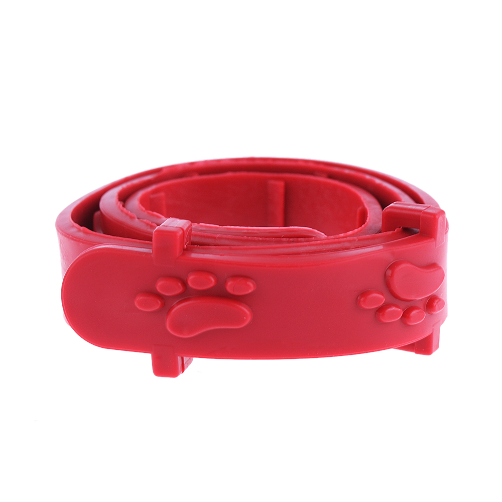 Red Adjustable Anti Flea Neck Strap