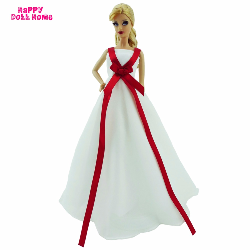 Handmade Marriage ceremony Gown Dinner Get together Bridesmaid Costume Princess Robe DIY Garments For Barbie Doll Dollhouse Equipment Present