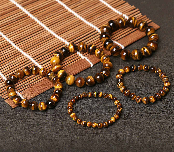 אופנה 5A טבעי עין נמר אבן צמידים & צמיד לנשים וגברים צמידי מתנה חרוזים צמידי אבזרים סיטונאי