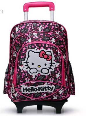 a75f6dcb66b7 Hello Kitty Mochilas Shool Kids Backpacks Children School Bags With Wheels  Luggage Backpack Free Shipping