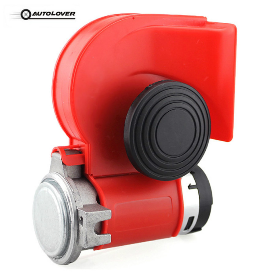 Hot Sale H314 12V 125DB Car Air Horn Snail Compact Siren Loud Alarm Kit Red For Motorcycle trucks Car Horn Available suv 2pcs pair 1 treble 1 bass waterproof super loud snail horn speeker 12v car 510hz 115db alarm sound