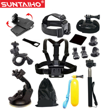 GoPro accessories 13 in 1 Set Family Kit Go Pro SJ4000 SJ5000 SJ6000 accessories package for GoPro HD Hero 1 2 3 3+ 4 xiaomi yi