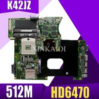 XinKaidi K42JZ Laptop motherboard DDR3 Für ASUS A40J K42JB K42JY X42J K42JE Laptop Mainboa 100% test intakt REV: 4 1 HD6470 512M-in Motherboards aus Computer und Büro bei