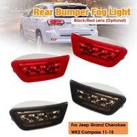 1Pair LED Rear Bumper Fog Marker Rear Lights Tail Brake Fog Lamp For Jeep Grand Cherokee WK2/Compass/Dodge Journey 2011 2018
