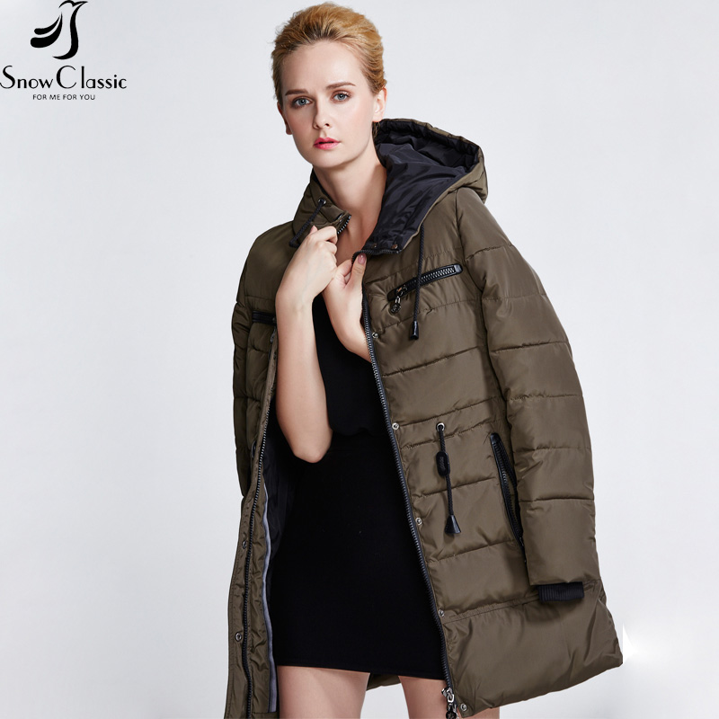 Snow Classic winter parka women 2016 Hooded Padded Jacket winter coat women parka The year-end clearance 15217A