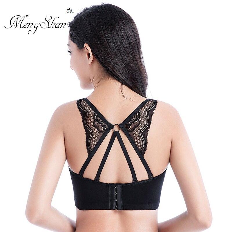Large Beautiful Back bras for women Comfortable gathering Fertilizer and size big size bra Ring adjustment type plus size bra DE