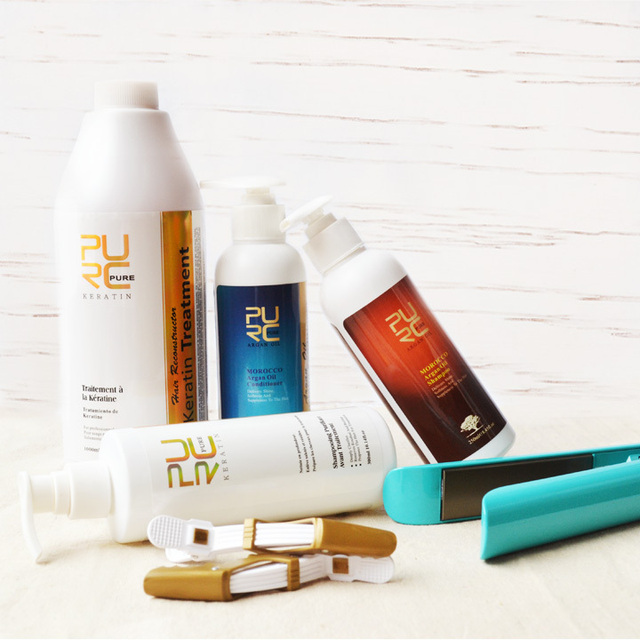 keratin straightening hair product keratin treatment and keratin purifying shampoo and argan oil shampoo and hair conditioner