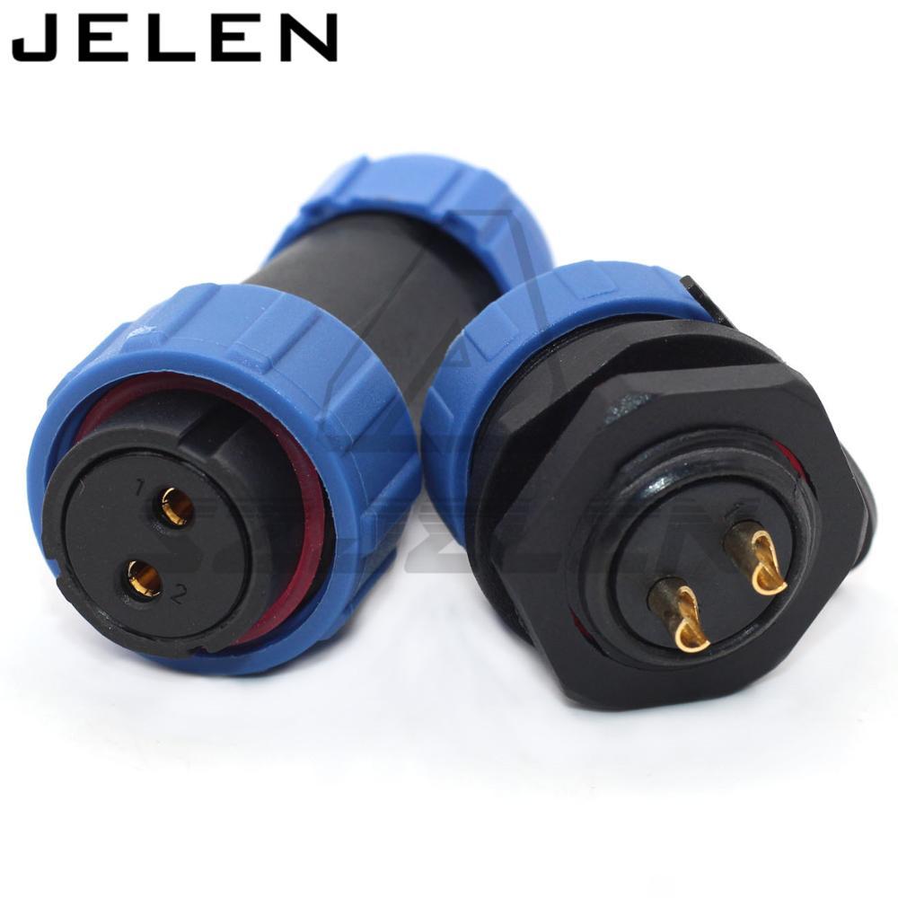 SP2110/S, prise femelle, prise mâle, connecteur étanche d'inversion prise à 2 broches, courant nominal 30A, voltage500V nominal, IP68