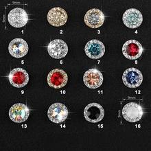 5pcs  3D Diamond Design Nail Art Rhinestone Rotatable Crystal Glitter Diamond Gemstone Jewelry Decoration Manicure Accessoires 10pcs 3d nail jewelry decoration nails art glitter rhinestone for manicure green rose design nail accessories tools