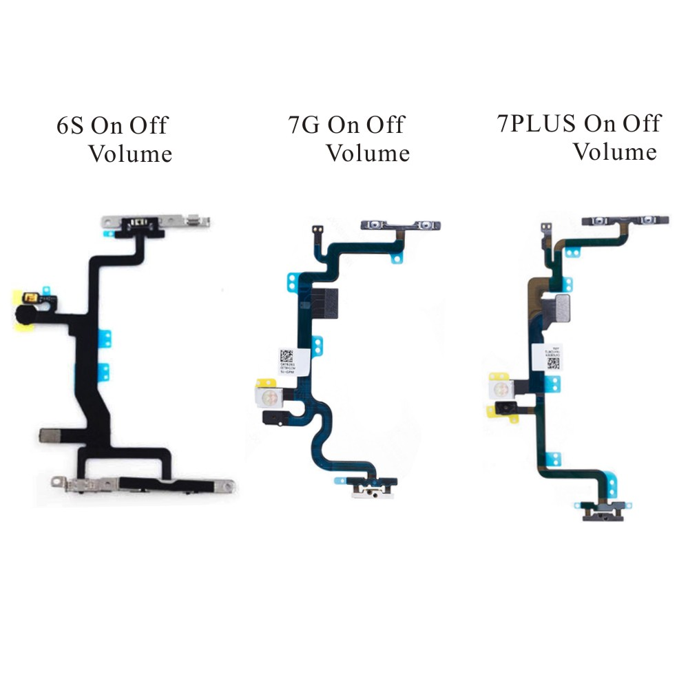 for iPhone 6S 7G 7PLUS Power on off Button Swtich Volume Side Key Sound Flex Cable Ribbon Replacement Mobile Phone Parts