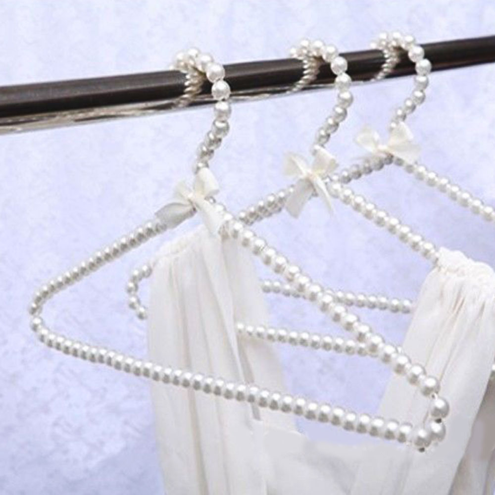 Clothes Hanger Plastic Pearl Closet Space Saver Clothes Coat Storage Rack Holder ...