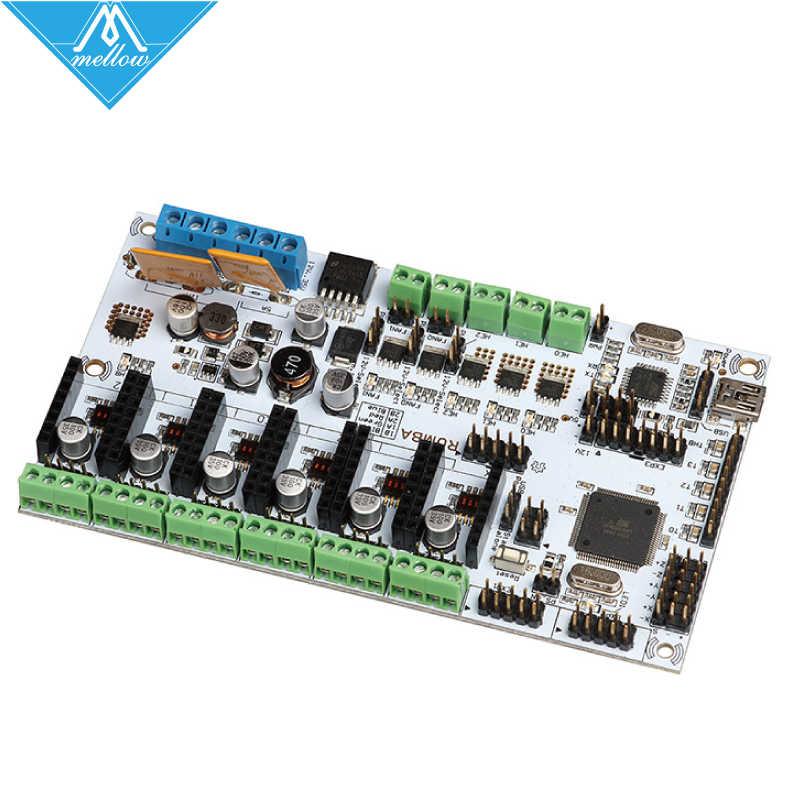 3D Drucker Diamant Hotend Messing Multi Farbe Düse Control Kits Mutter Rumba Board Mit 6 stücke A4988 Stepper Fahrer 6 stücke Kühlkörper