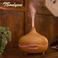 TBonlyone 300ML Dark Wood Aroma Diffuser For Home Office Spa Yoga Aromatherapy Air Humidifier Ultrasonic Essential