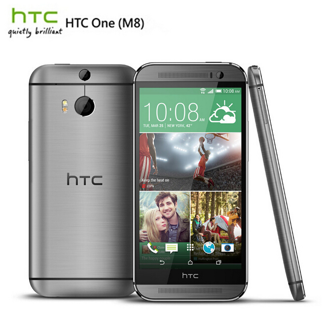 Unlocked Original HTC ONE M8 Quad Core Mobile phone  Android 4.4 2GB RAM 16GB/32