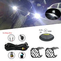 1 Set Universal Motorcycle LED Auxiliary Fog Light Assemblie Driving Lamp 40W Headlight For BMW R1200GS/ADV/F800GS/F700GS/F600GS