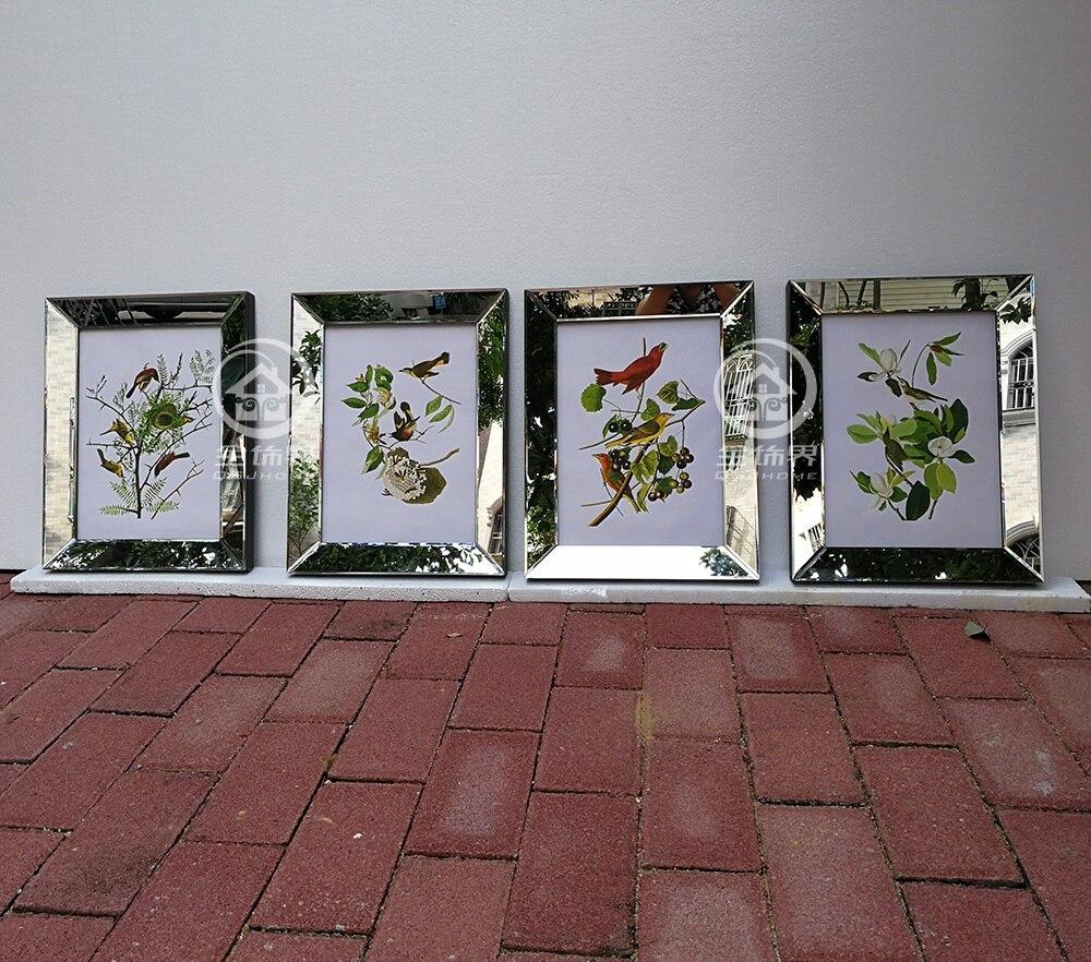 Mode wand gespiegelt rahmen moderne kombination fotorahmen wandbild ...