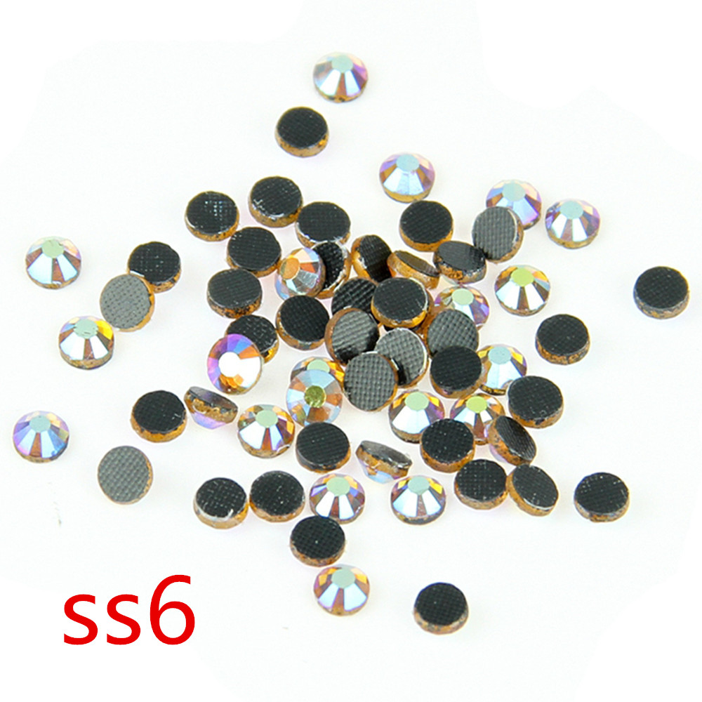 Topaz AB SS6 1000 Gross DMC Crystal Loose Rhinestones Hot Fix Stones For Wedding Dress Decoration