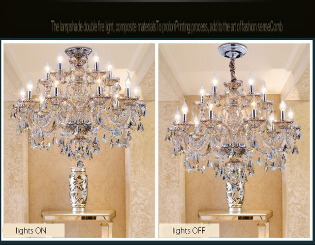 Nowoczesny kryształ żyrandol salon emalierskim de Cristal