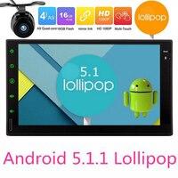 Android 5.1 Tablet PC Del Coche Doble 2 din Car Multimedia Player GPS Del Coche de Navegación gps Bluetooth Stereo Radio SIN reproductor de DVD cámara