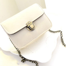 Trendy Bag 2017 Women Casual Small PU Leather Flap Handbags Purse Clutches Crossbody Shoulder Bags Messenger Bag WML99(China)