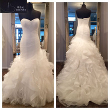 BRITNRY 2018 Sweetheart Court Train Mermaid Wedding Dress