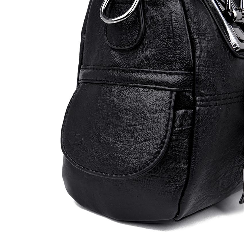 Marca feminina bolsas de couro de alta