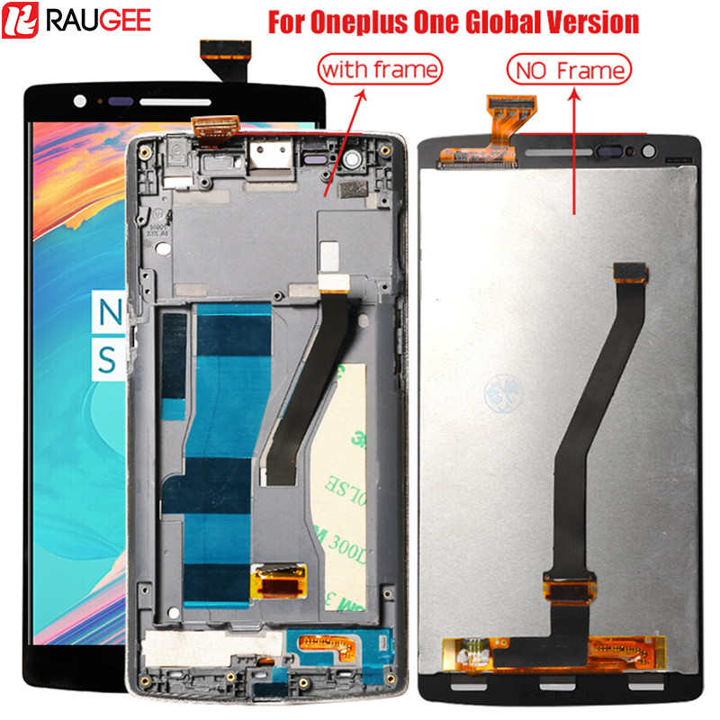 Display For Oneplus One LCD Screen With Frame For Oneplus One Lcd Touch Screen Digitizer Replacement On A0001 1 Global Version