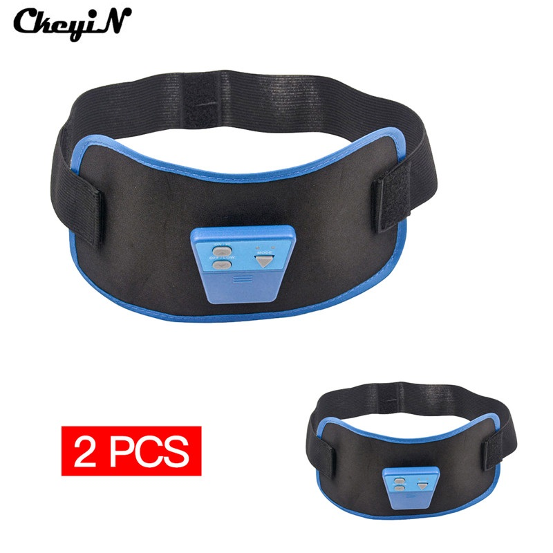 2Pcs Electric Body Slimming Massager Pulse Muscle Burning Fat Lose Weight Shake Belt Waist Trainer Arm Leg Health Care Beauty abdomen reduce weight thin waist belt 4800times min vibration massage rejection fat weight lose shake shake belt slimming belts