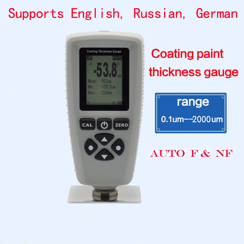 coating paint thickness gauge AUTO tester F NF range 0 2000um coating thickness tester