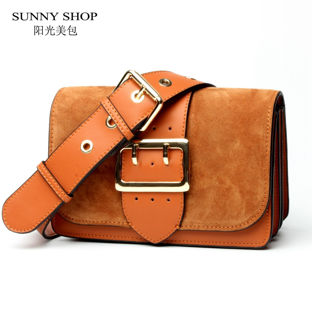 SUNNY SHOP Brand Designer Women Shoulder Bag 2017 New Fashion Genuine Leather Women Bag  Cow Leather Handbag  christmas messenger bag