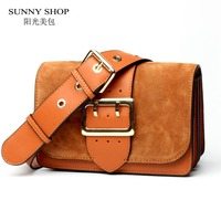 SUNNY SHOP Brand Designer Women Shoulder Bag 2017 New Fashion Genuine Leather Women Bag Cow Leather Handbag christmas