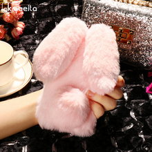 AKABEILA Cute Rabbit Fur Case For Huawei P9 lite Mini Case Silicon Soft Cases For Huawei Nova Lite 2017 Cover Enjoy7 P9lite Mini