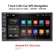 Universal 2 din Android 9.0 OctaCore 2+32 Car Multimedia Pla