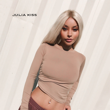 Brand Designer Style Women Basic Crew Neck Slim T-shirt Woman's Primer Shirt Sexy Tops All Match Pure Color Tops