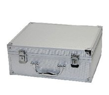 EMS Freeshipping Professional tattoo Carrying box/Case Small White Metal Carrying Case with Lock for beginner tattoo kits supply