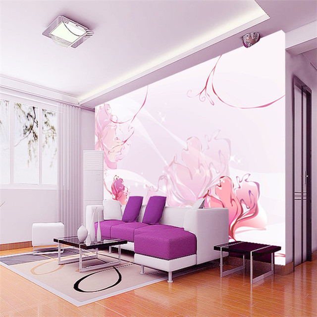 Elegant Pink Flowers Photo Wallpaper Girls Lovely Wall Mural Large  Wallpaper TV Background Wall Bedroom Kids Rooms Home Decor Part 96