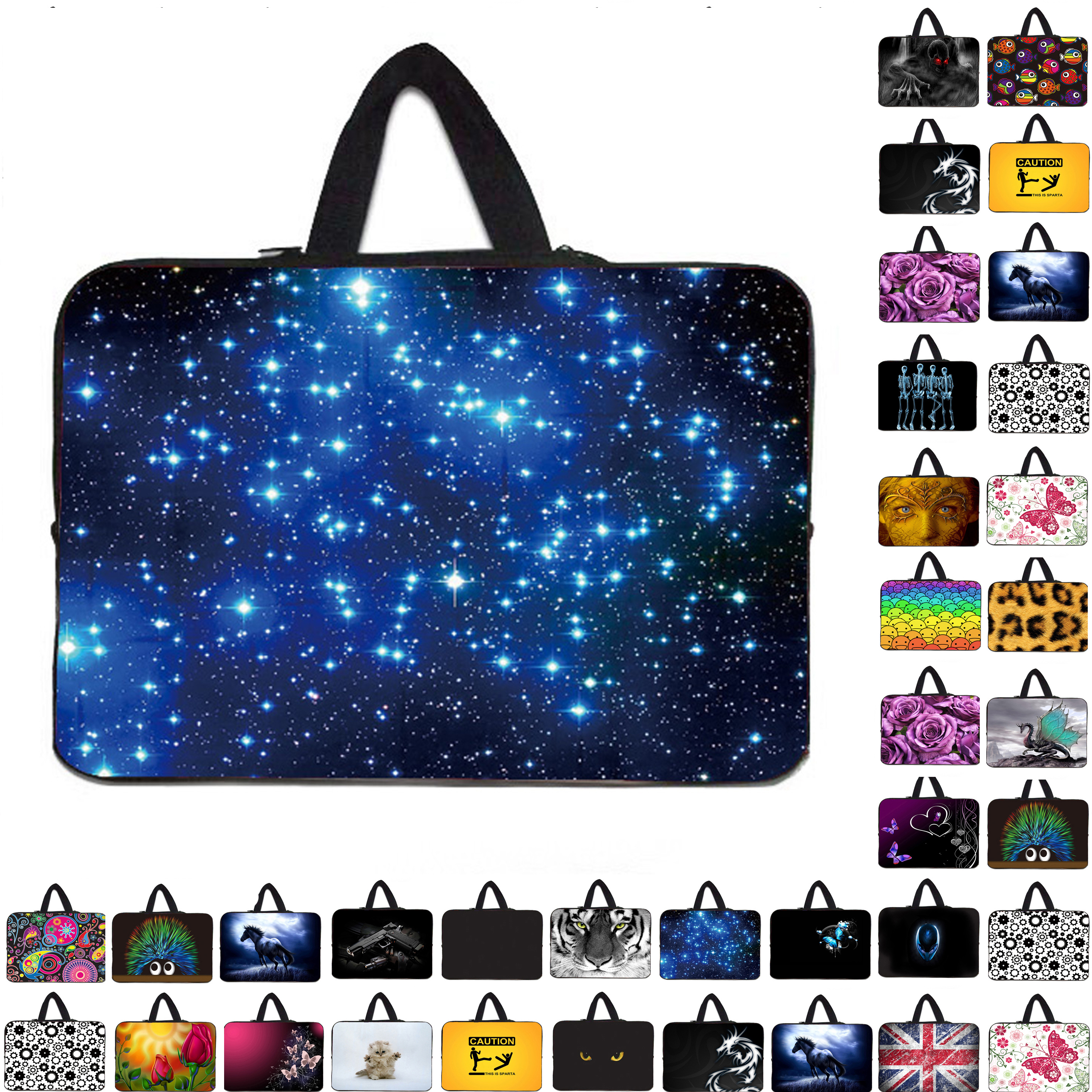 Night bright blue sky 15 inch laptop bags carry cover cases for15 15.3 15.4 15.5 Toshiba Samsung HP Acer soft zipper sleeve bags
