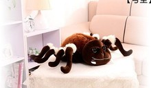 small plush whimsy spider toy cute brown spider toy new style doll gift doll about 25x40cm