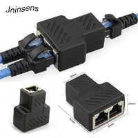RJ45 coupleur connecteur femelle 2 voies RJ45 réseau séparateur adaptateur Extender, connecteur LAN, adapté pour Cat5 Cat6 Ethernet
