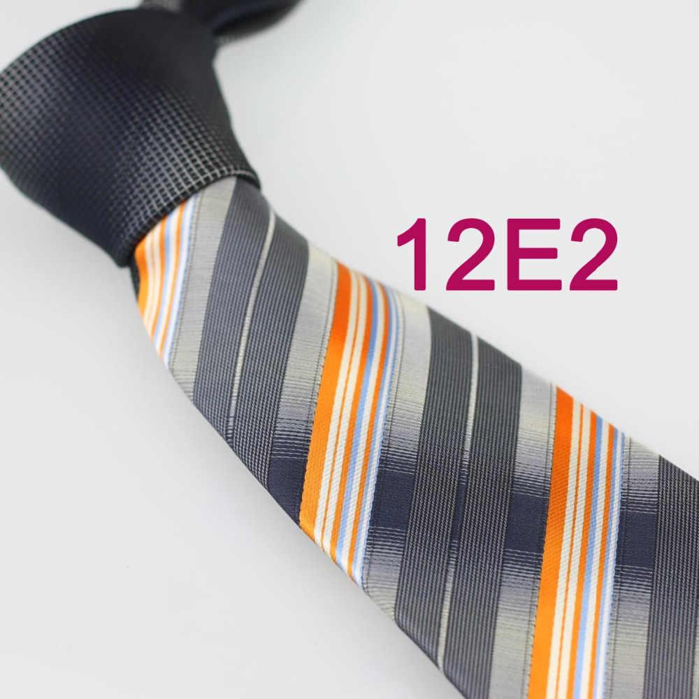 Yibei Coachella ikatan, Abu-abu simpul kontras oranye abu-abu garis-garis dasi, Mens leher dasi bisnis kasual buatan tangan untuk gaun pengantin