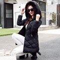 Moda Otoño E invierno la nueva versión Coreana de algodón gruesa abajo chaqueta Delgada era fina en la capa femenina