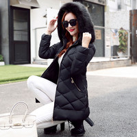 Fashion Autumn And Winter The New Korean Version Of Thick Cotton Down Jacket Slim Was Thin