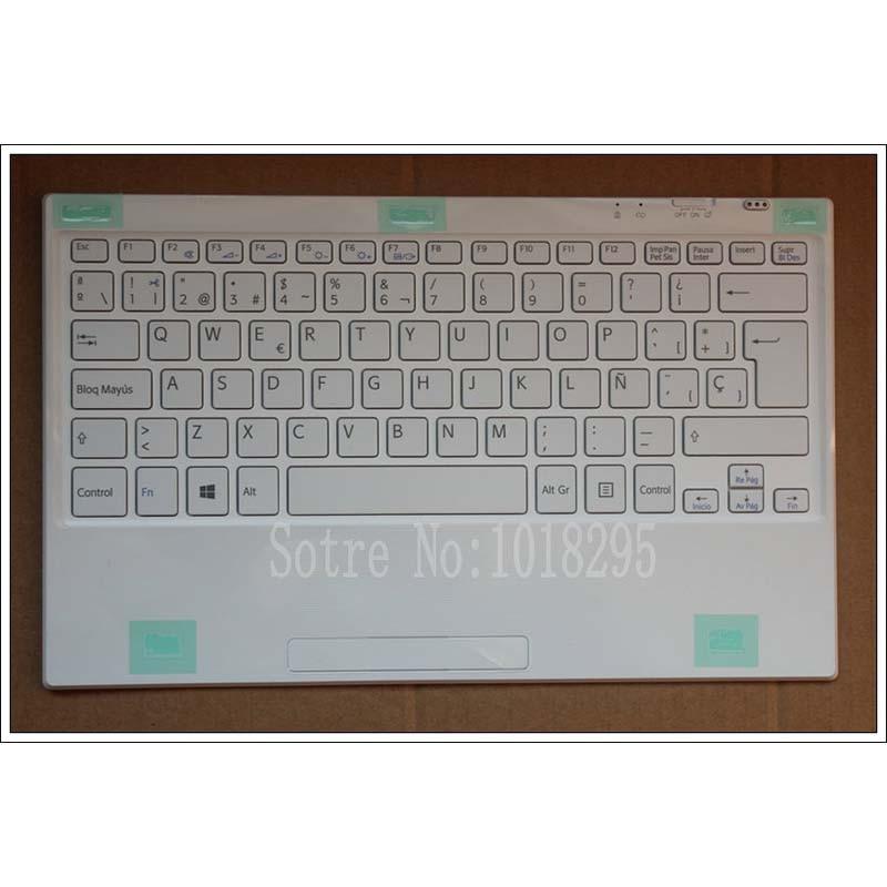 Spanish Wireless Bluetooth keyboard tablet pc for Sony SVT11115FLS SVT11211CLB SVT11215CLW tablet keyboard for sony vpceh35yc b vpceh35yc p vpceh35yc w laptop keyboard